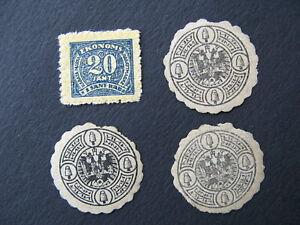 LATVIA, LATVIAN REVENUE STAMPS, LETTLAND,  EKONOMS