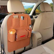 Brown Auto Car Back Seat Multi Pocket Storage Organizer Seat Cover Holder Bag