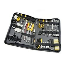 100 Piece Computer Technician Tool Kit for Repairing Wiring Cleaning and Test