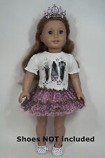TIARA Leopard DRESS w/Pic of Shoe-flats Doll Clothes For 18 American Girl (Debs)