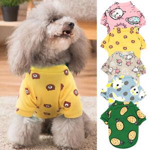 Cute Pet Dog Vest Clothes Small Puppy Cat T-Shirt Warm Winter Jumper Pajamas XS
