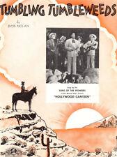 TUMBLING TUMBLEWEEDS Music Sheet-1934-SONS OF PIONEERS-HOLLYWOOD CANTEEN-SOROKIN