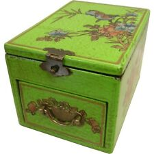 Oriental Green Jewellery Box with Fold Out  Mirror  (MB-S1LG-FL)