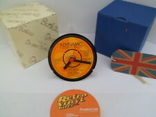 BARRY BIGGS REGGAE CLOCK actual VINYL RECORD CENTRE Desk / Side Table Stand