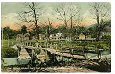 Livingston Manor NY - RUSTIC BRIDGE OVER WILLOWEMOC - Postcard