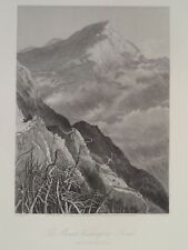 Mount Washington Road New Hampshire Antique Steal Engraving 1872