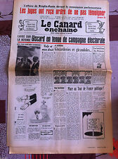 Le Canard Enchainé 25/06/1980; Les juges ont reçu ordre de ne pas témoigner