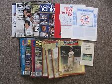 NY Yankees Special Magazines. Pinstriper, New York Sports, etc. 1970's to 1990's