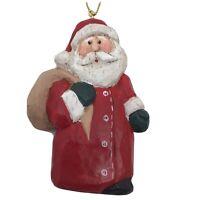 Eddie Walker Christmas Ornament Santa Standing with Toy Sack Vintage Retired