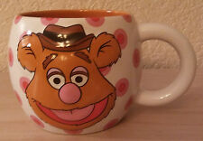 Disney Store Muppet's Studio FOZZIE BEAR Mug with Polka Dots and Banana