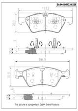 Disc Brake Pad Set-SEMI METALLIC PADS Front Dash 4 Brake MD1123