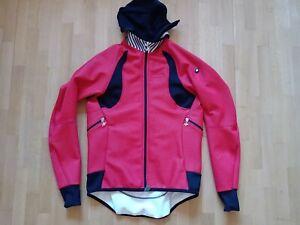 Cycling Jacket ASSOS Fugu Airblock 851 Size 'XL' Winter Jacke Red / Black & Hood