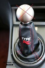 "For Honda Civic Type R FN2 07-12 Gear Stick Gaiter Leather ""TYPE R "" Embroidery"