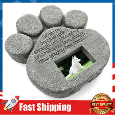 Grave Tombstone for Dogs Gifts Cats-Pet Memorial Gifts-Paw Print Pet Memorial