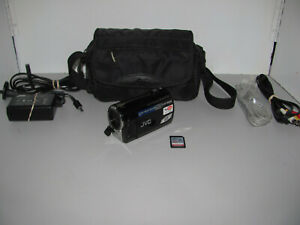 JVC Everio Memory Camcorder Model GZ-MS100BAA 32GB Card Fully Tested & Working