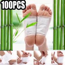 100X Bamboo Vinegar Detox Foot Pads Patch Detoxify Toxins Slim Keep Fit Adhesive