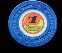 Vintage $1 Casino Chip Frontier Hotel Las Vegas $1 Clay Chip Original Owner