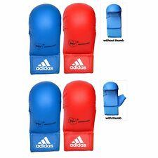adidas WKF Approved Official Karate Mitt Blue M