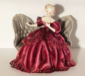 """Florence Ceramics """"Victoria"""" Figurine Lady on a Couch"""