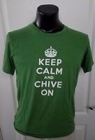theChive Chivery Keep Calm and Chive On Crown Logo Green T Shirt Medium Rare