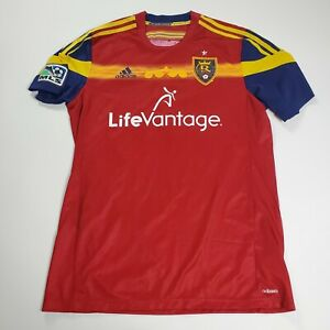 Adidas Adzero MLS Real Salt Lake FC Football Soccer LS Jersey Mens Large Red