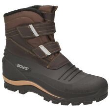 BOWS® KNUD Herren Schnee Stiefel Jungen Winter Boots Schuhe Klettverschluss