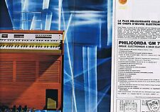 Publicité Advertising 026 1966 Philips Philicorda GM 755 (2 pages)