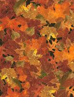 Owl Fox Turkey Autumn Leaf Cream Cotton Fabric Timeless Treasures C1537 By Yard