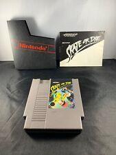 SKATE OR DIE NES Nintendo Good With Manual