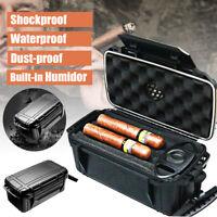 Portable Waterproof 15 Cigar Tube Caddy Case Travel Storage Humidor Humidifier