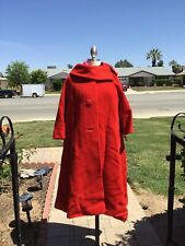 2 LILLI ANN MOHAIR SWING COATS,RED AND CREAM,AS IS