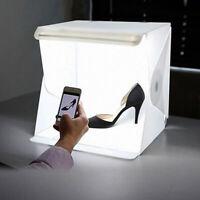 LED Mini Photo Studio Photography Light Box Adjustable White Backdrop Light Room