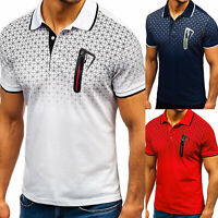 Men's Slim Fit Polo Shirts Short Sleeve Casual Golf T-Shirt Sports Jersey Tops