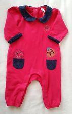 Combinaison coton fuchsia bébé fille 12 MOIS ORCHESTRA