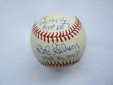 Bob Gibson Denny McLain Autograph Signed Baseball St. Louis Cardinal 68 MVP