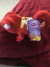 "Chameleon Disney Store Tangled Rapunzel Angry Pascal Sparkly Red Plush 7"" BNWT"