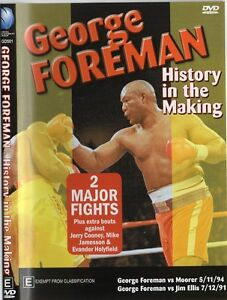 HISTORY IN THE MAKING GEORGE FOREMAN VS MICHAEL MOORER & JIM ELLIS BOXING DVD