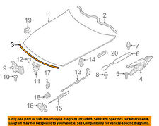 BMW OEM 03-08 Z4 Hood-Front Seal Gasket 51717053532