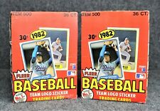 (2) 1982 Fleer Baseball Wax Boxes ~ PSA Cal Ripken RC? ~ UNOPENED!