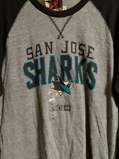 CCM San Jose Sharks Vintage NHL Long Sleeve Shirt Men's Size L *NEW*