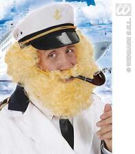 CAPITANO Birdseye Bionda Parrucca & Barba Parrucca Troll BLUTO pilota FANCY DRESS