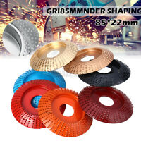 Steel Wood Sanding Carving Shaping Disc Tool Angle Grinder Grinding Wheel 85mm