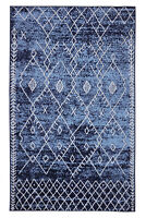 Trellis Bohemian - 5'x8' Navy, Moroccan Faded Transitional Area Rug - 511