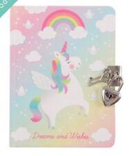 Sass & Belle Rainbow Unicorn Girls Secret Diary With Padlock Dreams & Wishes