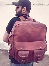 New Genuine Leather Back Pack Rucksack Sport Bag For Men's and Women's