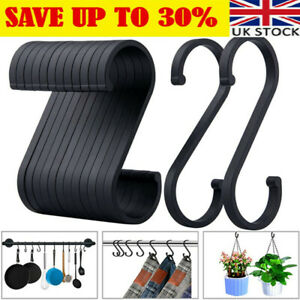 12x S-shaped Hooks Used To Hang Pots Pans Plants Coffee Cups Clothes Towels YY47