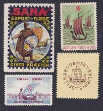 Denmark Norway Poster Stamps  VIKING SHIP  VIKINGSHIPS