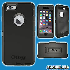 Genuine OtterBox Defender for iPhone 6/6S BLACK tough cover belt clip new case
