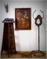 "Konisches Regal Postament Obelisk Etagere ""arts and crafts"" 1900 Schwan Krähe"