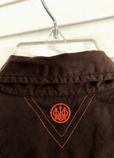 ☀️Beretta Shooting Hunting Button-Front Shirt Patch Vented Lightweight • Medium